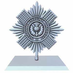 scots guards insignia 3D model