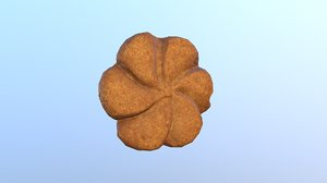 3D cookie chocolate 04 modeled model