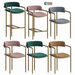 lenox chairs set westelm 3D