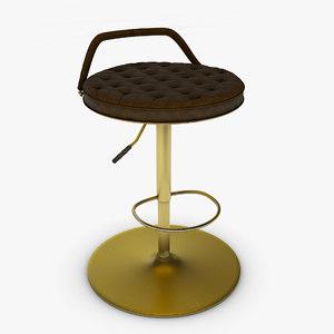 chair furniture kitchen 3D