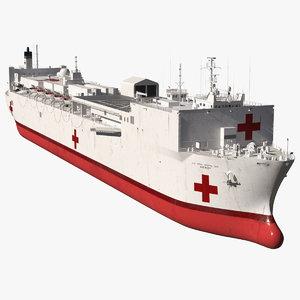 3D navy hospital ship mercy