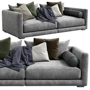 3D poliform sofa bristol model