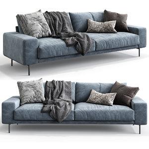 3D model design sofa piu triple