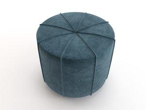 3D comfortable pouffe