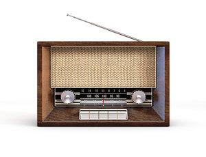 vintage retro radio 3D