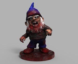 evil garden gnome print 3D model