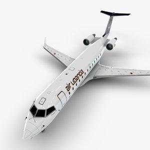 3D uganda bombardier crj 200 model