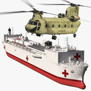 3D hospital ship mercy ch47 chinook