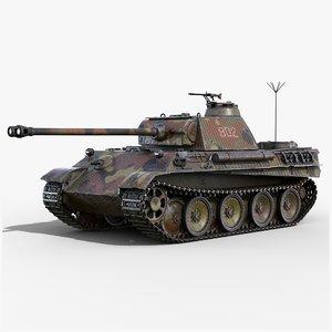 3D model panther gameready pzv tank
