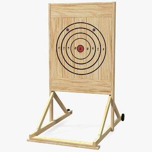 wooden axe throwing target 3D model