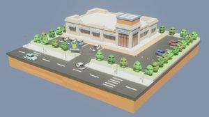 police station car 3D model
