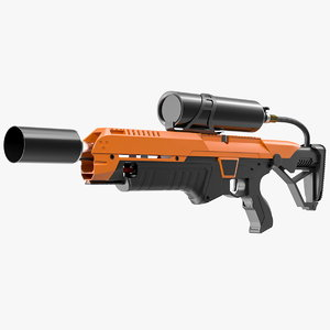 futuristic flamethrower 3D model