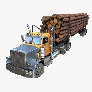 359 log trailer pbr 3D model