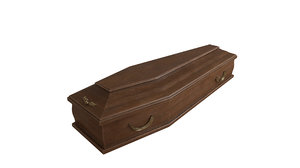3D coffin casket model