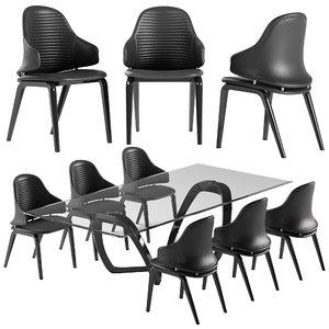 vela chair segno table model