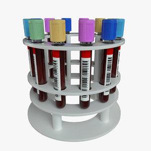 stand blood vials octane 3D