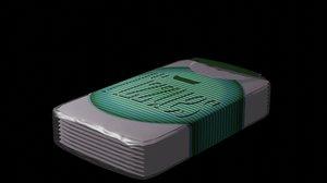 packet tissues 3D model