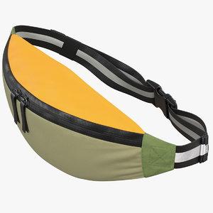 3D model polyester waist bag