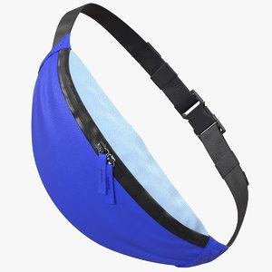sport waist bag blue 3D model