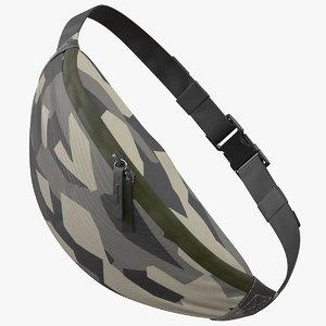 sport waist bag camo 3D