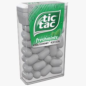 tic tac freshmints breath 3D model