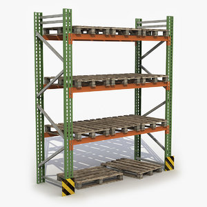 warehouse rack 3D model