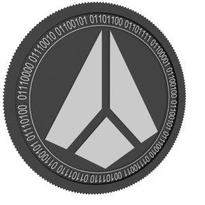 3D shard black coin