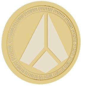 shard gold coin 3D