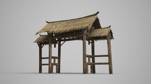 thatched gates ancient model