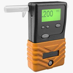 3D portable breath alcohol bac model