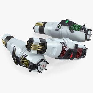 3D sci fi fuel energy model