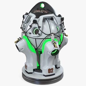 sci fi nuclear reactor model
