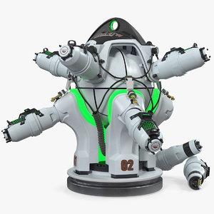 3D sci fi nuclear reactor