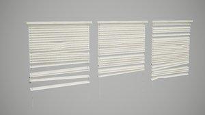 broken window blinds 3D model