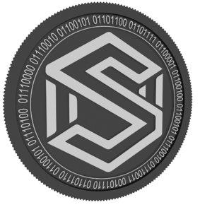 sharder black coin 3D model