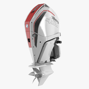 3D mercury racing 450r white