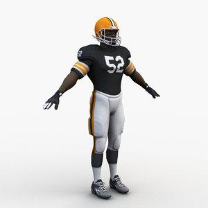 american football player 0006 model