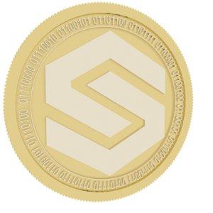 shieldcure gold coin 3D model