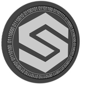 shieldcure black coin 3D model