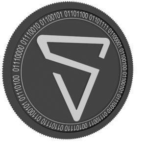 3D shield black coin model