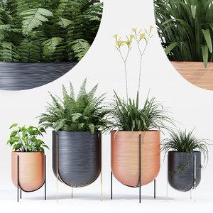 3D pot flowerpot model