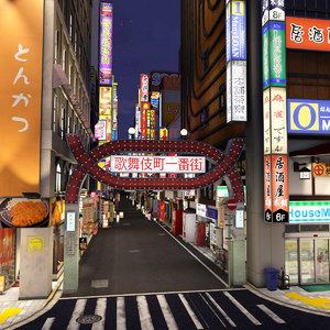 japanese streetscape kabukicho model