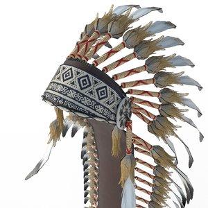 indian headdress model