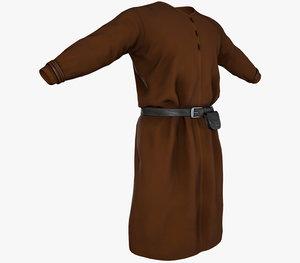 brown medieval 3D model