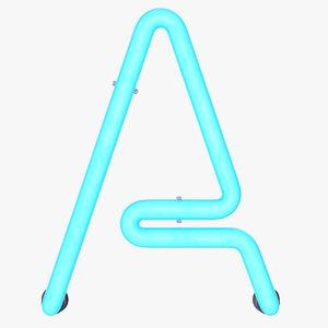 3D neon letter light
