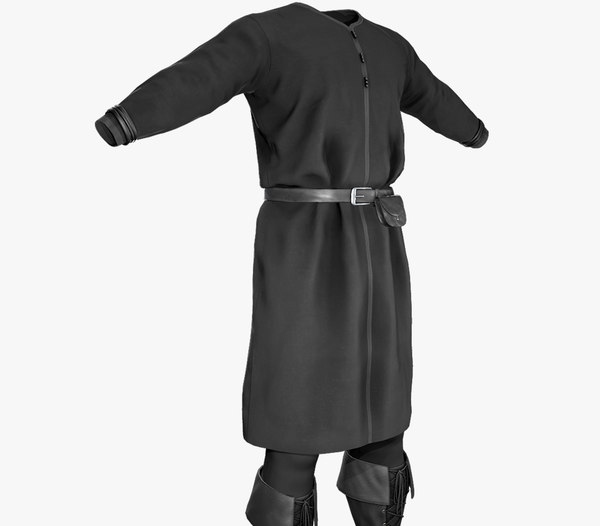 black medieval outfit model