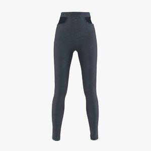 3D cloth jeans trousers model