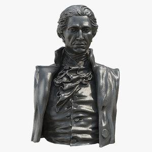 hamilton statue model