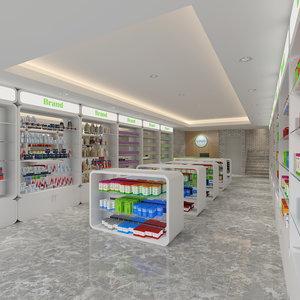 interior retail 3D