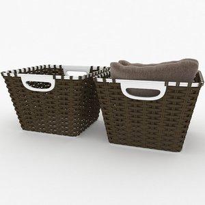 3D wicked basket model